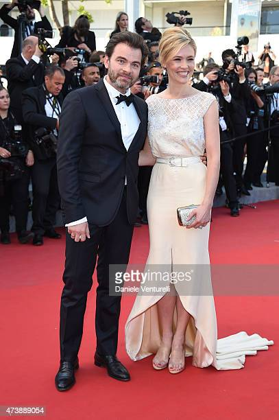 Clovis Cornillac and Lilou Fogli attend the 'Inside Out' Premiere during the 68th annual Cannes Film Festival on May 18 2015 in Cannes France
