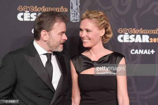 Clovis Cornillac and Lilou Fogli attend the Red Carpet Arrivals Cesar Film Awards 2019 at Salle Pleyel on February 22 2019 in Paris France
