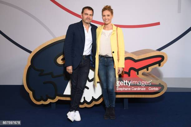 Clovis Cornillac and Lilou Fogli pose before the Press Conference of the presentation of the France Olympique team 100 Days Prior The Pyeongchang...