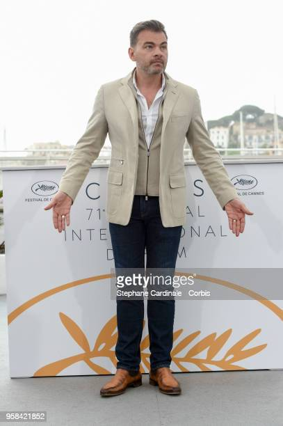 Clovis Cornillac attends the Little Tickles Photocall during the 71st annual Cannes Film Festival at Palais des Festivals on May 14 2018 in Cannes...