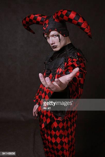 clown alias amleto - arlecchino foto e immagini stock