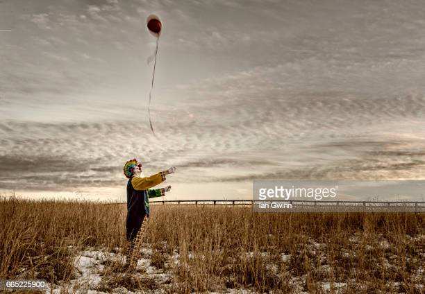 clown and balloon - ian gwinn bildbanksfoton och bilder