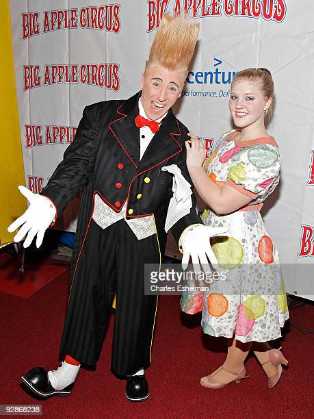 Clown Bello and daughter airialist Annaliese Nock attends the 2009 Big Apple Circus opening night gala benefit at Damrosch Park in Lincoln Center on...