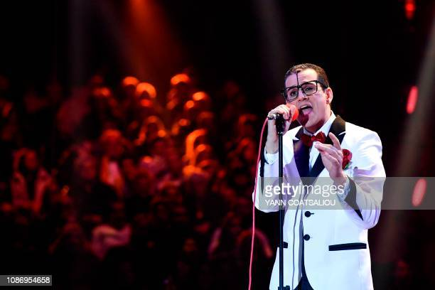 Clown Cesare Dias performs during the gala of the 43th MonteCarlo International Circus Festival in Monaco on January 22 2019 The festival will run...