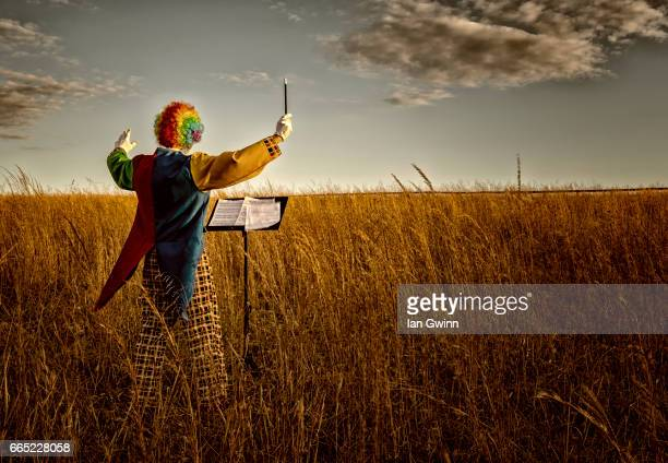 clown conductor - ian gwinn - fotografias e filmes do acervo