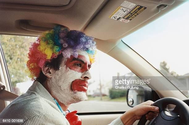 Clown Driving Car