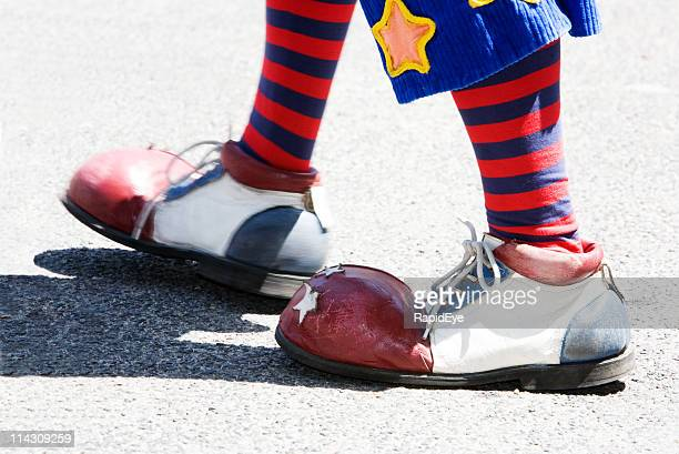 clown feet - big foot stock photos and pictures