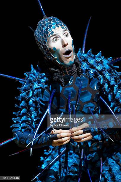 A clown from Cirque Du Soleil performs in the show 'OVO' at Carpa Santa Fe on October 29 2011 in Mexico City Mexico