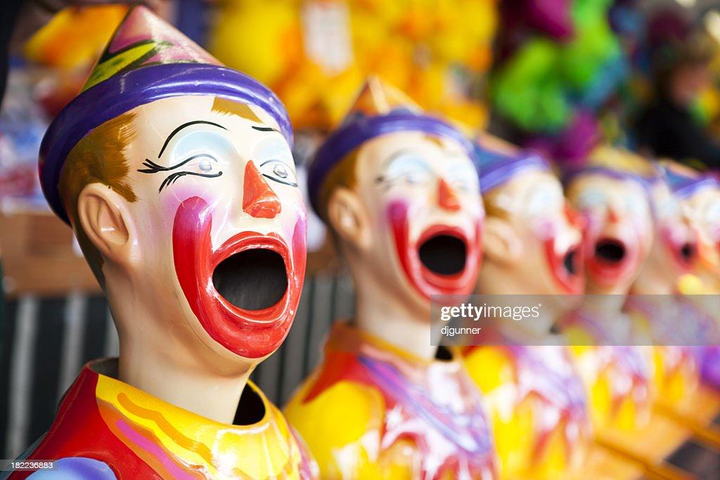 Clown head game at a fair : Stock Photo