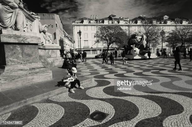 リスボンのピエロ - ロッシオ広場 ストックフォトと画像