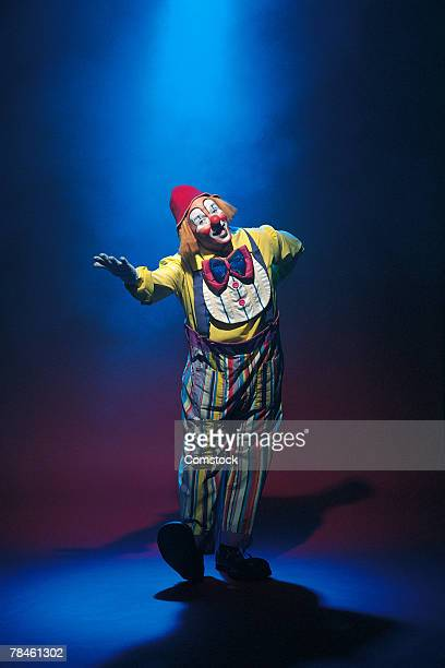 Clown in the spotlight