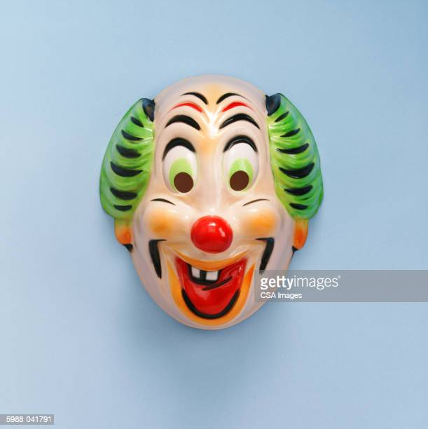 clown mask - happy clown faces stock photos and pictures