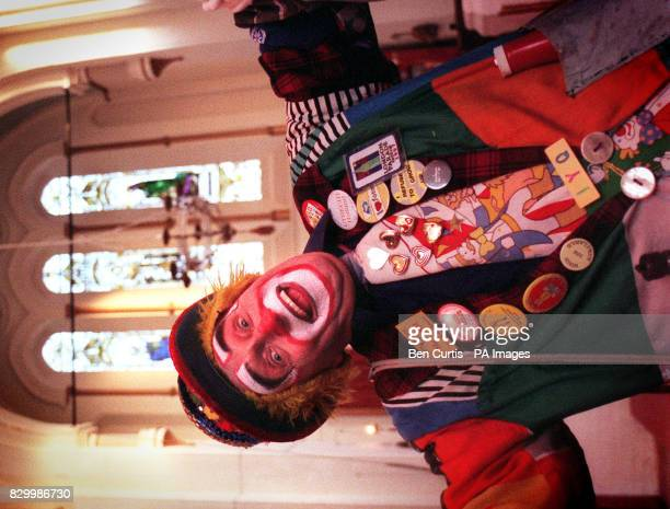 Clown Mr Jam entertains the congregation at the the 52nd Annual Grimaldi church service for clowns at the Holy Trinity with St Philip church in...
