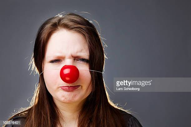 clown nose  - clown's nose stock photos and pictures