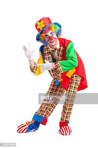 Clown su sfondo bianco