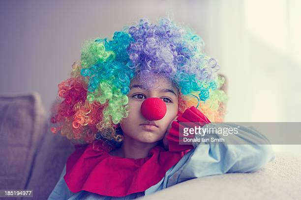 clown - sad clown stock photos and pictures