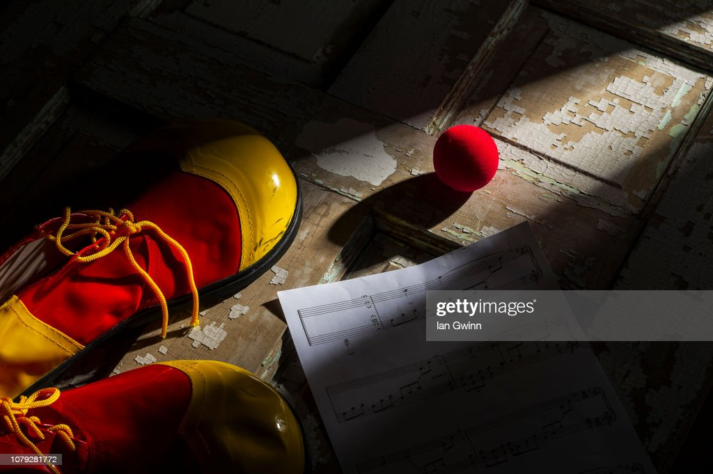 Clown Shoes and Clown Nose_1 : Stock Photo