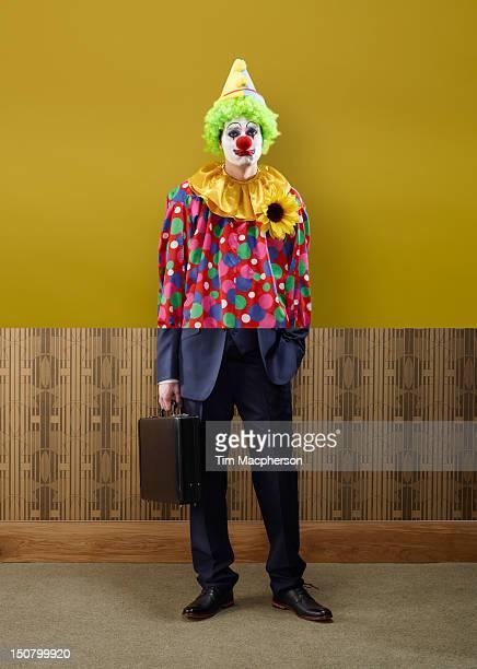 Clown top, business man bottom
