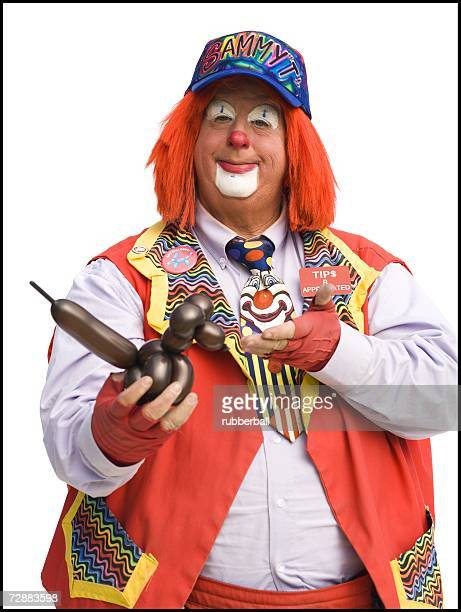 Clown with balloon animal