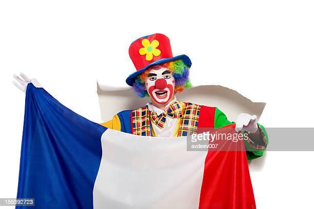Clown avec Drapeau français