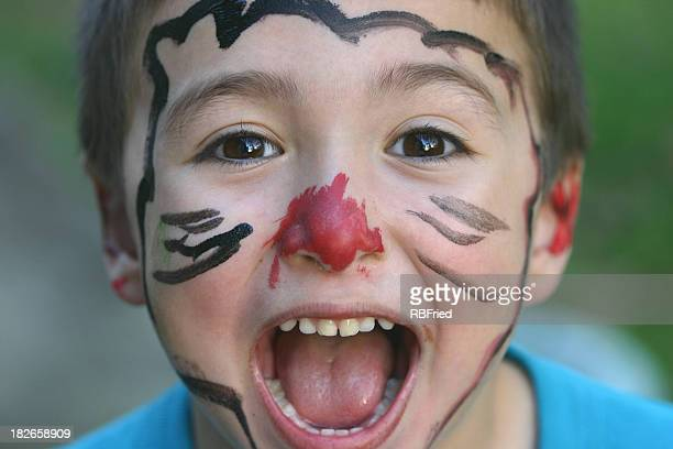 clowning - happy clown faces stock photos and pictures
