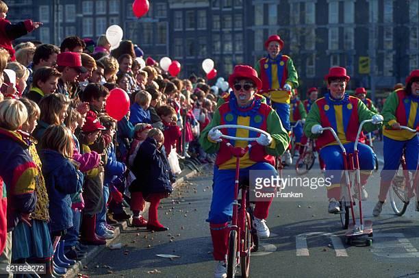 Clowns in Sinterklaas Parade