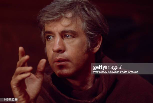 Clu Gulager as a monk appearing in the Walt Disney Television via Getty Images tv series 'The Wide World of Mystery' episode 'Chant of Silence'.