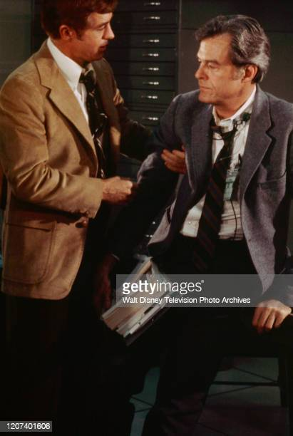 Clu Gulager Robert Culp appearing in the ABC tv movie 'Houston We've Got a Problem'