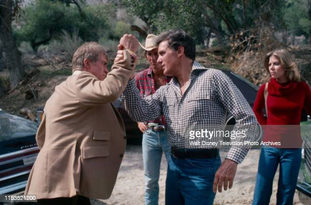 Clu Gulager Shelly Novack Robert Stack Jo Ann Harris appearing in the ABC tv series 'Most Wanted' episode 'The Two Dollar Kidnapper'