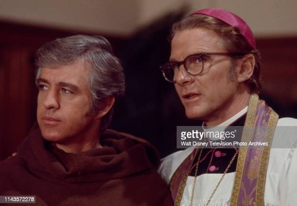 Clu Gulager, Steve Forrest appearing in the Walt Disney Television via Getty Images tv series 'The Wide World of Mystery' episode 'Chant of Silence'.