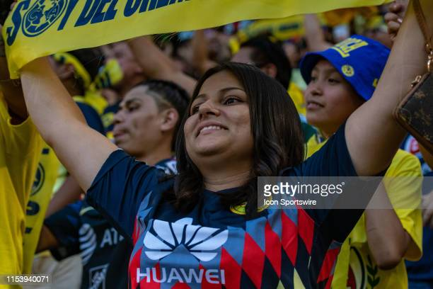 Club America fans during the Colossus Cup soccer match between Club America and Boca Juniors on July 3 2019 at Red Bull Arena in Harrison NJ