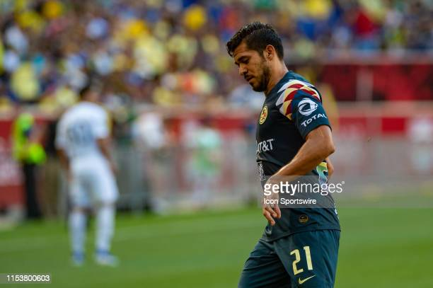 Club America forward Henry Martin during the Colossus Cup soccer match between Club America and Boca Juniors on July 3, 2019 at Red Bull Arena in...