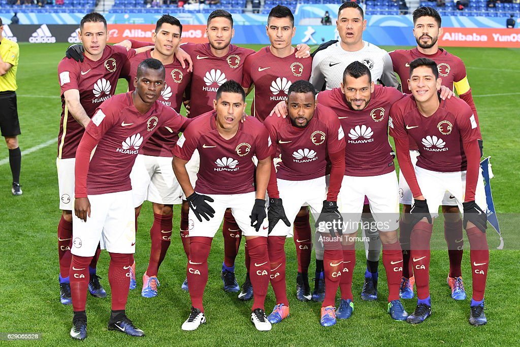 separation shoes 90521 dbefd Club America players line up for a team photo prior to the ...