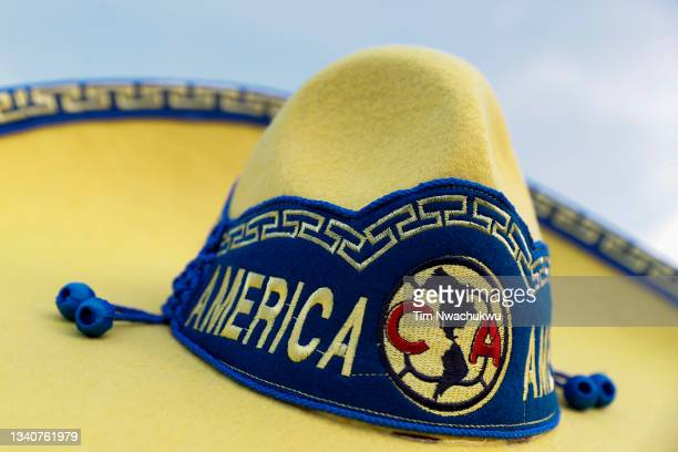 Club America sombrero is seen during the semifinal second leg match of the CONCACAF Champions League 2021 at Subaru Park on September 15, 2021 in...