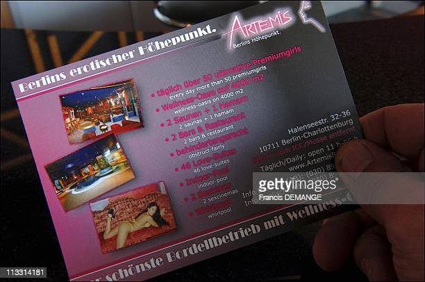 Club Artemis Berlin'S Largest And Most Luxurious Brothel On April 8Th 2006 In Berlin Germany Here The Clubs Business Card