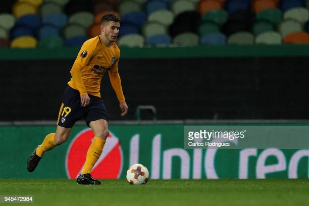 Club Atletico de Madrid defender Lucas Hernandez from France during the match between Sporting CP and Atletico Madrid UEFA Europa League Quarter...