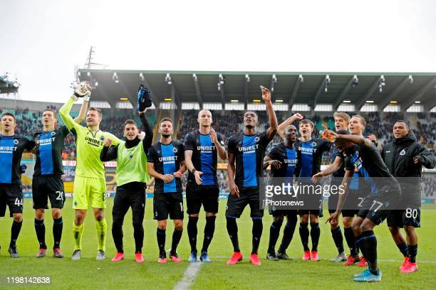 Club Brugge celebrates during the Jupiler Pro League match between Club Brugge and Royal Antwerp FC on February 02 2020 in Brugge Belgium 2/02/2020