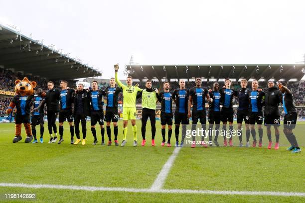 Club Brugge celebrates during the Jupiler Pro League match between Club Brugge and Royal Antwerp FC on February 02, 2020 in Brugge, Belgium, 2/02/2020