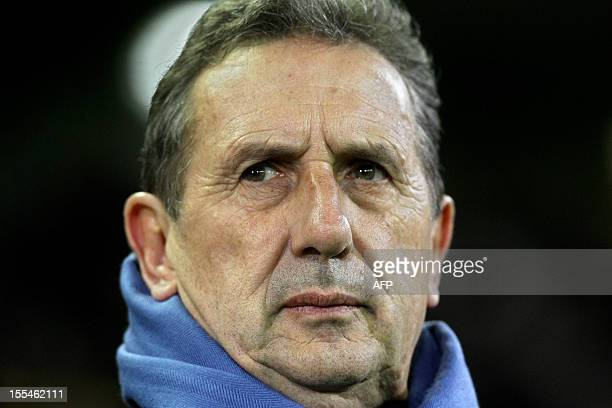Club Brugge head coach Georges Leekens pictured during the Jupiler Pro League match between Club Brugge and Zulte Waregem on November 4, 2012...