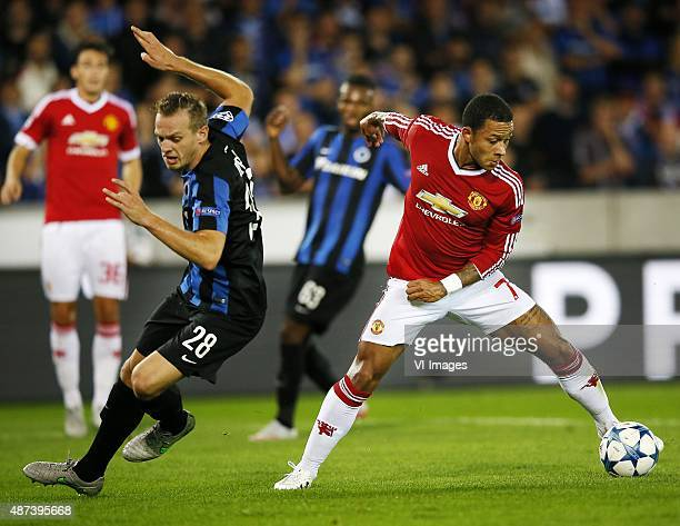 Club Brugge-Manchester United Op aangeven van Memphis Depay draait weg bij de Boek FOTO ; Pim Ras during the UEFA Champions League play-offs match...