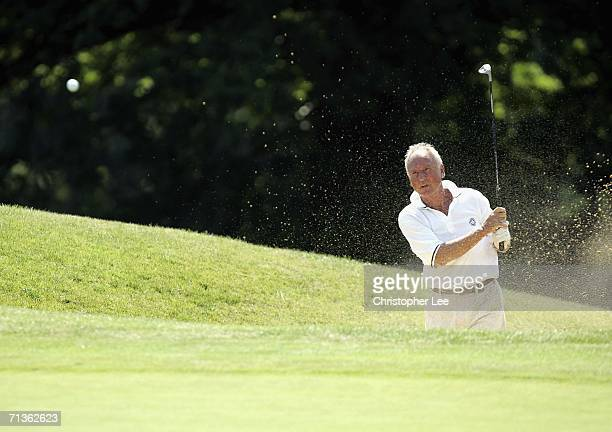Club Captain John Gandar of Surbiton Golf Club in action during the Gulf Air Southern Regionals Qualifier at the Merrist Wood Golf Club on July 3...