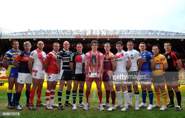 CROP* Club captain's Warrington Wolves' Adrian Morley Wakefield Wildcats' Glenn Morrison Hull KR's Michael Vella Salford City Reds Daniel Holdsworth...