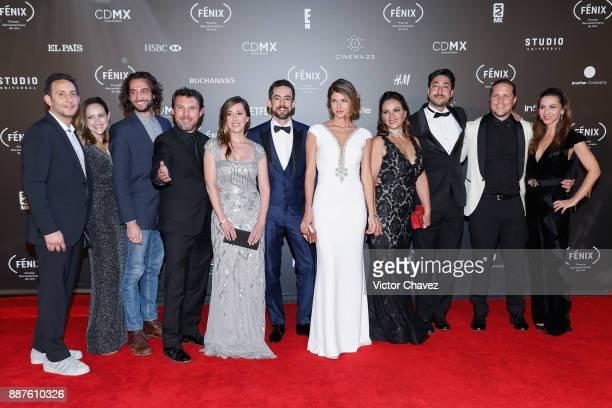 Club de Cuervos Tv series cast members Leonardo Zimbron Mariana Trevino Luis Gerardo Mendez Stephanie Cayo and Gary Alazraki attend the Premio...