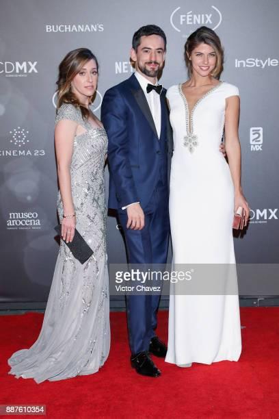 Club de Cuervos Tv series cast members Mariana Trevino Luis Gerardo Mendez and Stephanie Cayo attend the Premio Iberoamericano De Cine Fenix 2017 at...