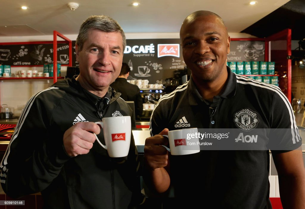Manchester United and Melitta Launch 'The Red Cafe' : News Photo