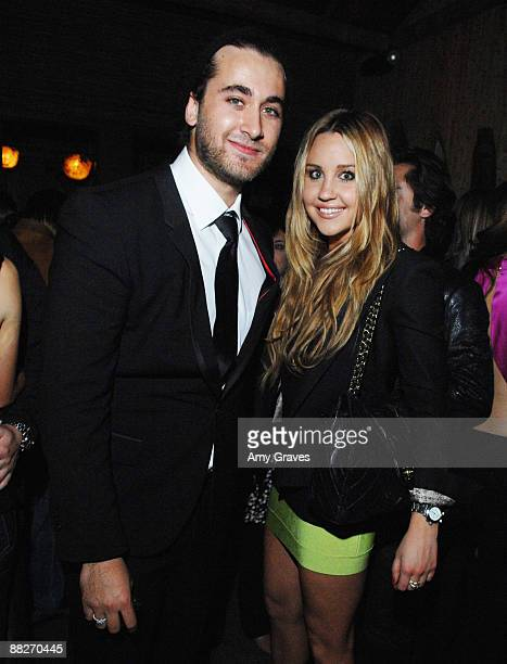 Club Owner Darren Dzienciol and Amanda Bynes at the Grand Opening of Luau Nightclub on June 5 2009 in Beverly Hills California