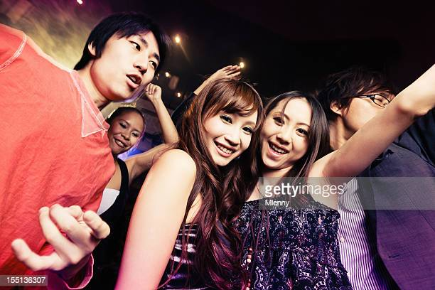 Club Party Young Japanese Girls and Boys Tokyo Going Out