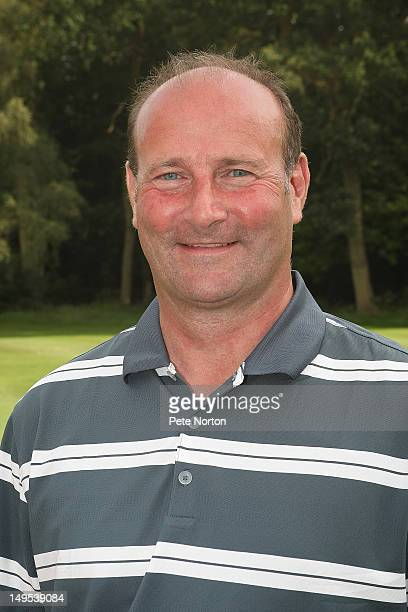 Club professional Nigel Whitton of Farnham Park Golf Club poses after winning the Virgin Atlantic PGA National ProAm Championship Regional Final at...
