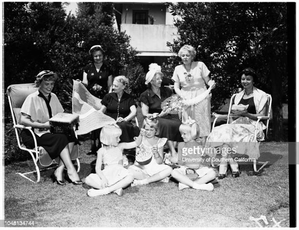 Club Society 20 August 1951 Mrs Ed A ArnoldMrs Charles BluskeMrs WR GoddardMrs Leroy Nimmo Mrs Arthur L LoomisMrs Harold KappAlice NimmoBarbara Nimmo...