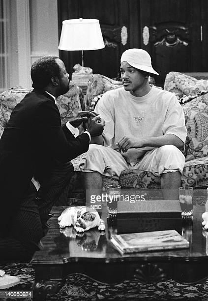 AIR 'Clubba Hubba' Episode 3 Pictured Joseph Marcell as Geoffrey Will Smith as William 'Will' Smith Photo by Ron Tom/NBCU Photo Bank